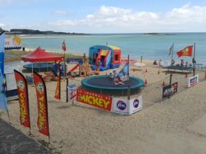 Espace jeux, Club Mickey, plage du Men-Du, La Trinité Sur Mer, Morbihan, Bretagne sud