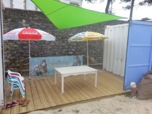 Espace enfants, Club Mickey, plage du Men-Du, La Trinité Sur Mer, Morbihan, Bretagne sud