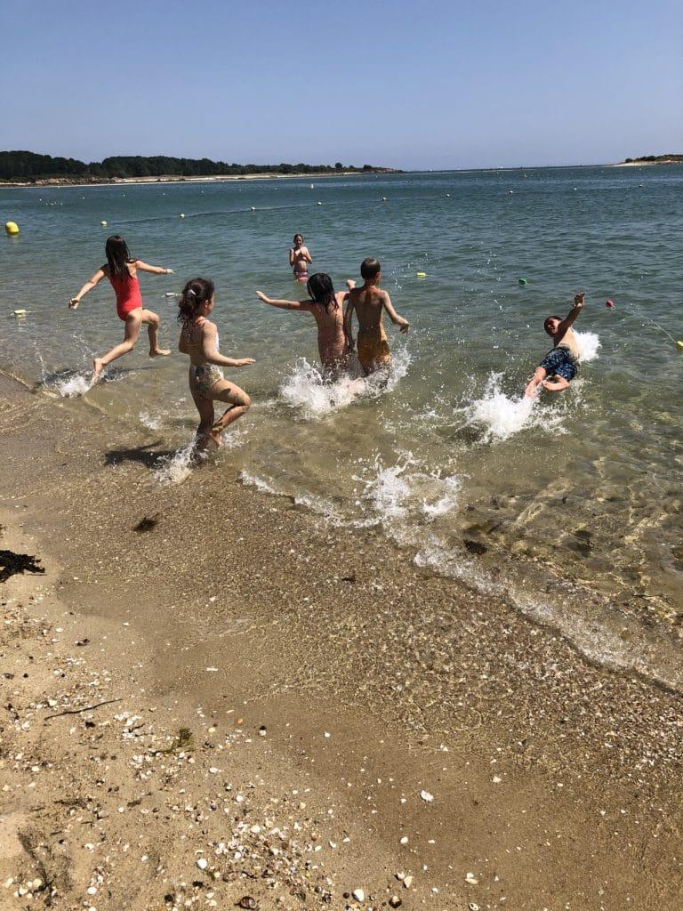 Baignade au club Mickey La trinité sur Mer/Carnac plage du Men-Du